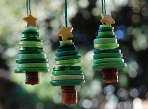 ボタンのクリスマスツリー