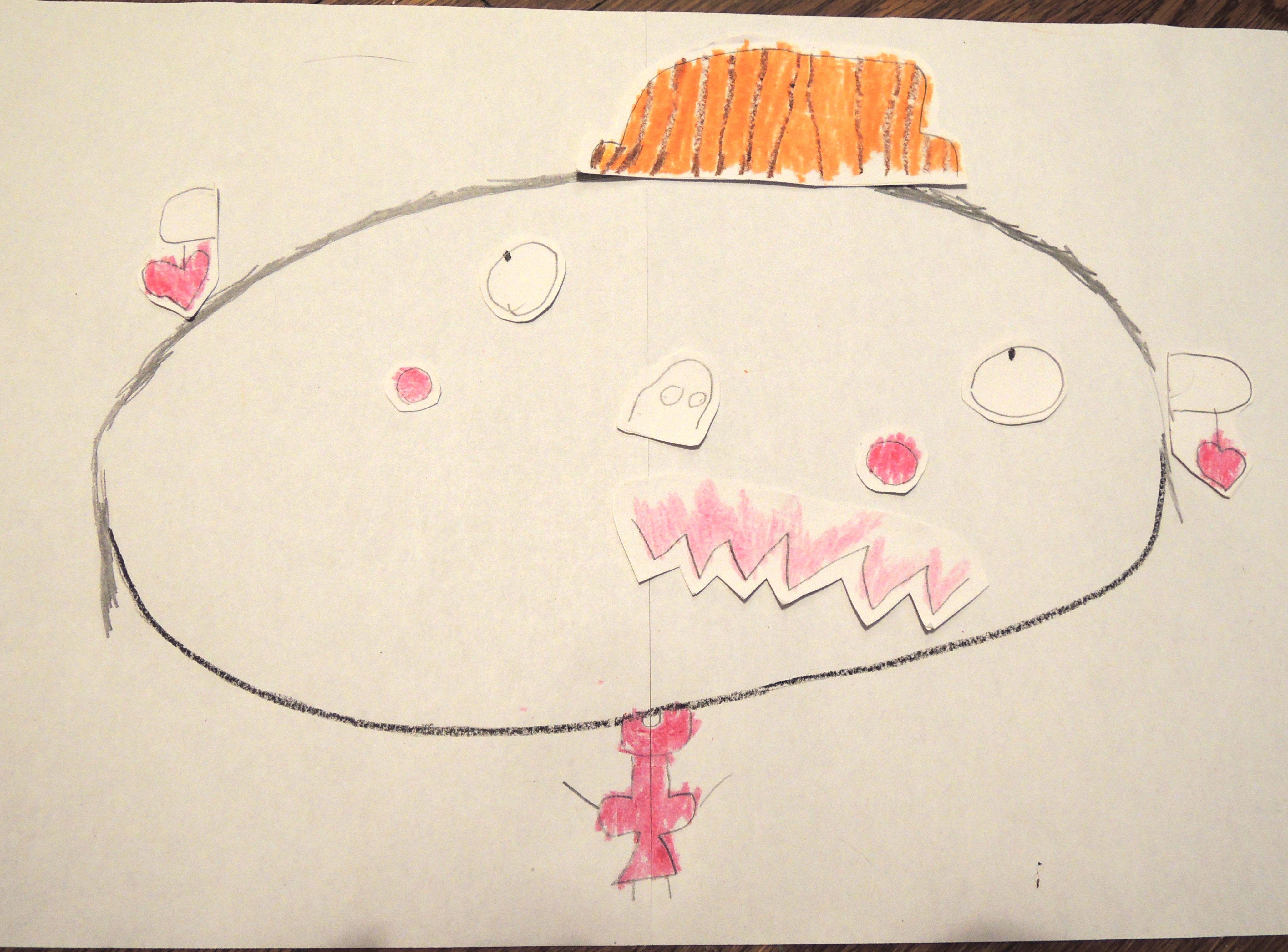 お正月は親子で手作り工作!福笑いを子供の絵で作ろう♪