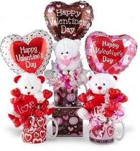 バレンタイン 熊と風船