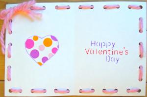手作りバレンタインカード