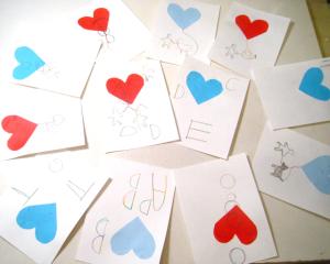 4歳 手作りバレンタインカード