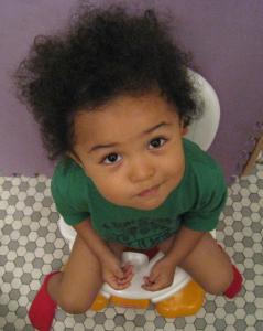 息子 おまるでトイレトレーニング
