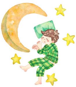 夜おむつはずし緑パジャマ